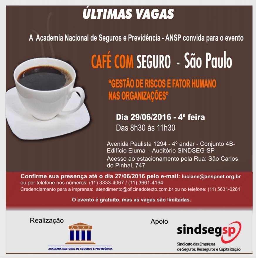 """Café com Seguro da ANSP debate """"Gestão de Riscos e Fator Humano nas Organizações"""""""