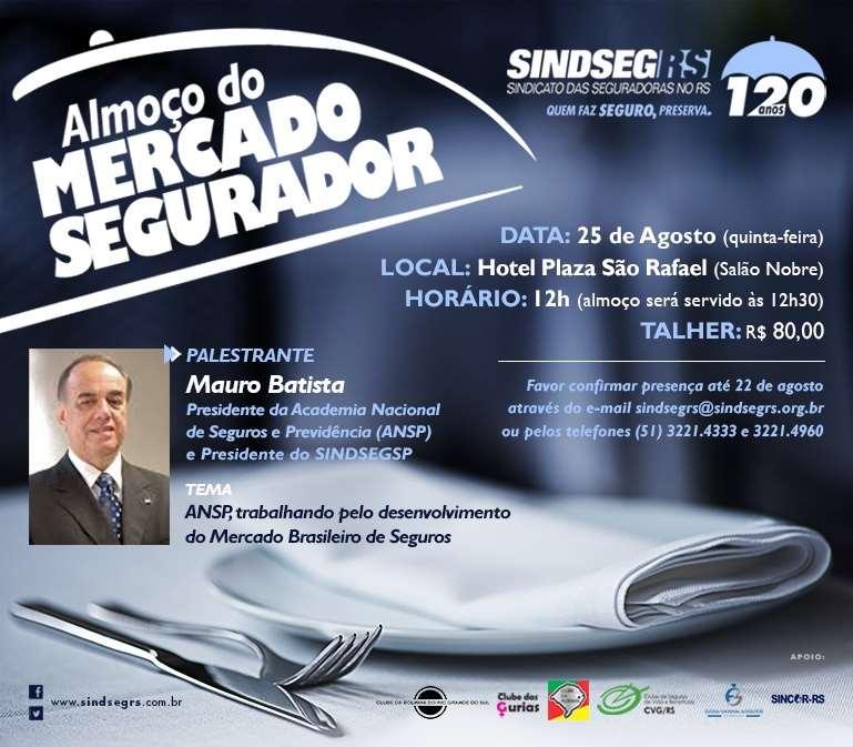 Presidente da ANSP participará do almoço do Mercado Segurador