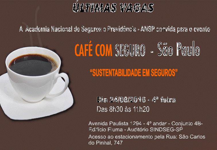 Café com Seguro da ANSP debate Sustentabilidade em Seguros