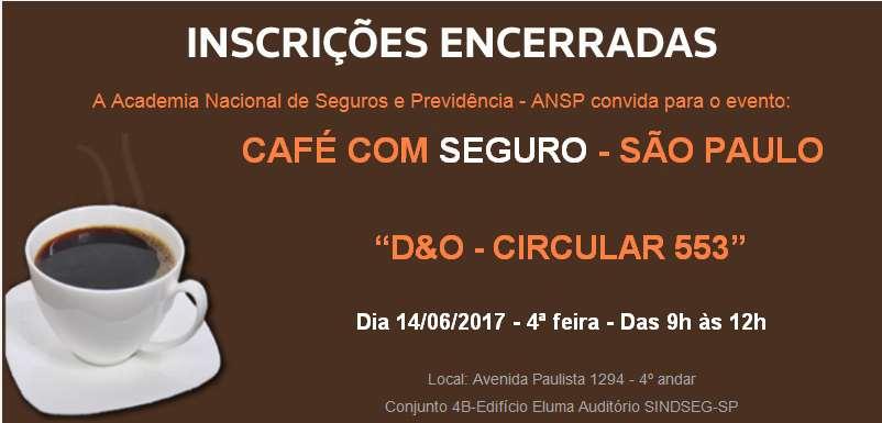 Café com Seguro debaterá D&O – Circular 553