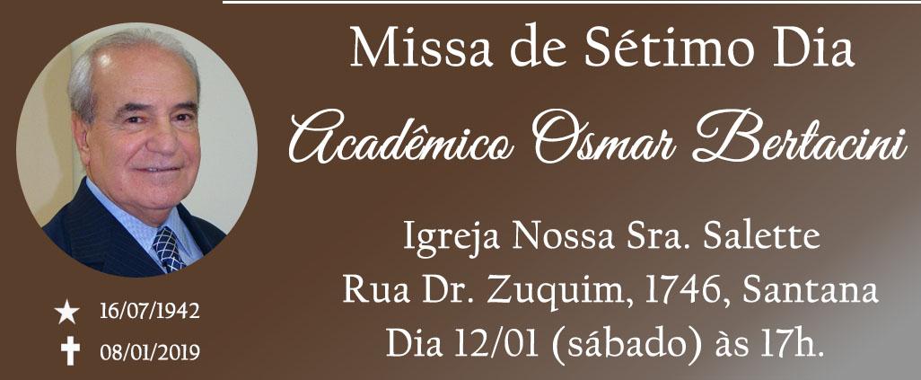 Missa de Sétimo dia do Acadêmico Osmar Bertacini