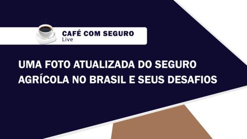 Café com Seguro Live l Uma foto atualizada do Seguro Agrícola no Brasil e seus desafios